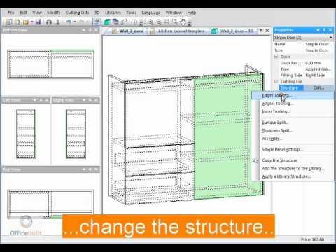 Polyboard 3D cabinet design Demo video