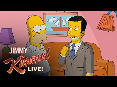 Homer Simpson Gives Jimmy Kimmel a Tour of