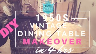 A 1950s VINTAGE DINING TABLE MAKEOVER