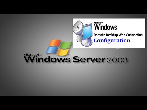 Server 2003 - How to configure Remote desktop Web connection in Windows Server 2003