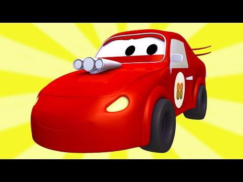 Tom la Grúa y la Super Patrulla con Coches de Carreras  en Auto City | Dibujos animados para niños