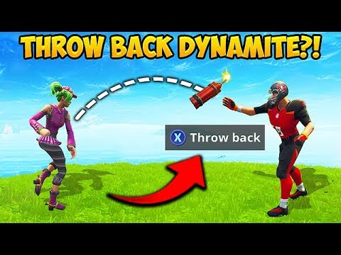 Reddit funny - *NEW TRICK* THROW DYNAMITE BACK! - Fortnite Funny Fails and WTF Moments! #397