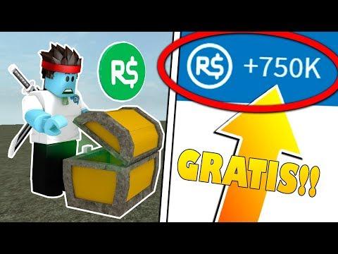 ABRE ESTE COFRE SECRETO y TENDRAS 750.000 ROBUX GRATIS !! Roblox видео