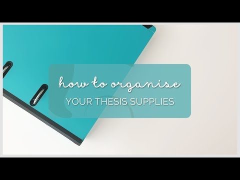 How To Organise Your Thesis Supplies   Sarahboparah