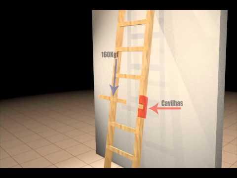Proyecto serie 100 seguro escaleras port tiles for Escalera madera portatil
