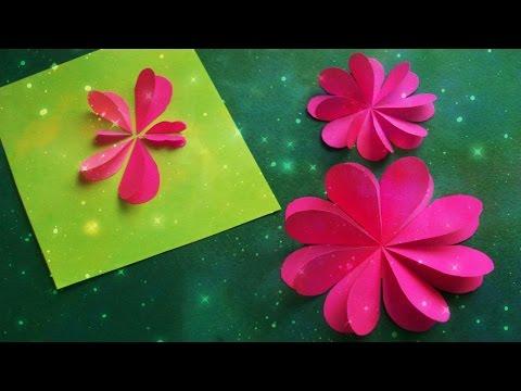 Цветы из бумаги своими руками видео для начинающих