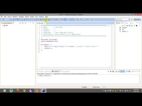 How to install and run Eclipse IDE for C/C++ Developers on windows  [HD + Narration]