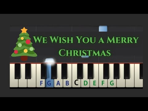 Easy Piano Tutorial: We Wish You A Merry Christmas (slow speed)