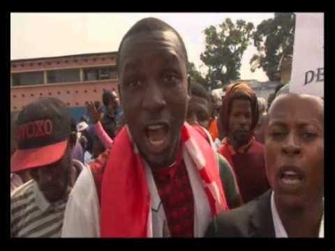 Soul�vement populaire � Kinshasa contre le glissem