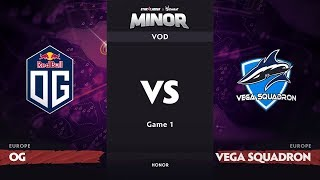 [RU] OG vs Vega Squadron, Game 1, EU Qualifiers, StarLadder ImbaTV Dota 2 Minor