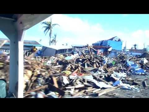 Devastation of Tacloban City after Typhoon Haiyan