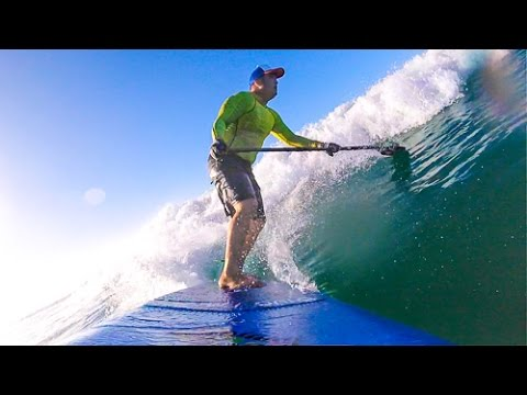 Blue Planet 8-8 All Good Stand Up Paddle SUP Board Test in Waikiki Hawaii