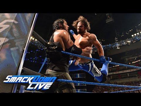 AJ Styles vs. Baron Corbin: SmackDown LIVE, April 18, 2017 (видео)