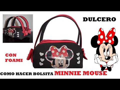 come realizzare una splendida borsetta di minnie in foamy