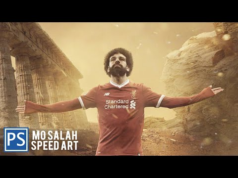Photo Manipulation- Mo Salaha - Liverpool - Speed Art - Visualrix