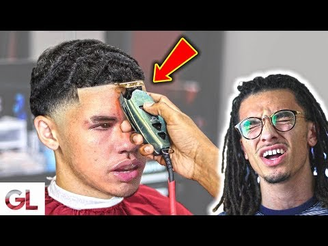 Hair cutting - People React To Lamelo Ball Cutting His Hair