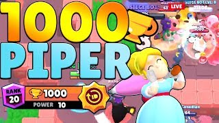 Getting piper to 1000 trophies with her new star power!