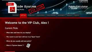 Welcome to Z Code System. How to use the VIP club picks & Place bets