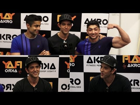 Hrithik Roshan At Launch Of  His Personal Trainer's Fitness Studio PLAY By AKRO