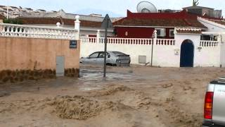 Mazarron Spain  city photo : Flash floods in Camposol, Mazarron, Spain.