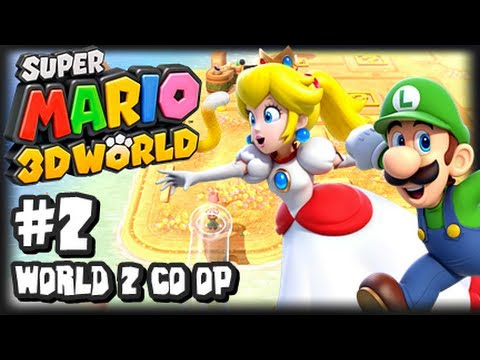 Super Mario 3d World Wii U - (1080p) Co-op Part 2 - World 2