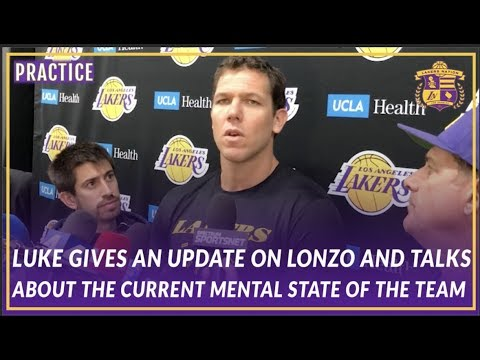 Video: Lakers Interview: Luke Gives An Update On Lonzo & On The Current Mental State of the Team