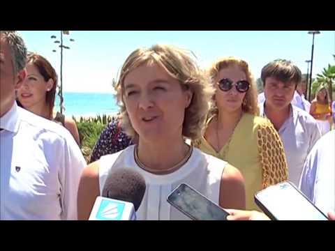 La Ministra de Medio Ambiente felicita a la Diputación por la Senda Litoral