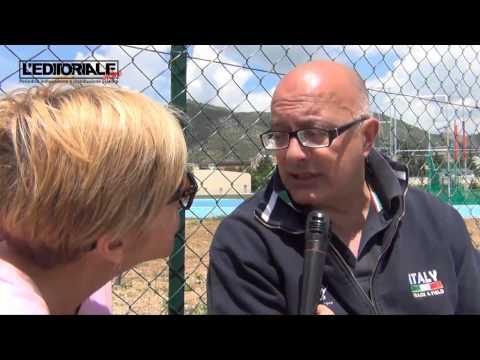 Gianni Lolli su campo di atletica Piazza d'Armi
