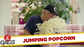 Jumping Popcorn Gag!!