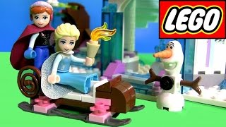 LEGO Disney Frozen Elsa's Sparkling Ice Castle Review 41062 ❤ with Princess Anna & Olaf in Sleigh