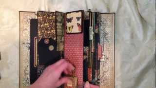 I made this mini album after being inspired by seeing this Witches Junk Journal by CreaBoetiek. http://www.youtube.com/watch?v=UCByibkLUik She didn't have a ...