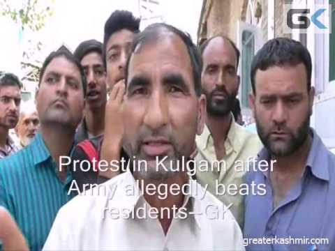 Protests In Kulgam After Army Allegedly Thrashes Residents
