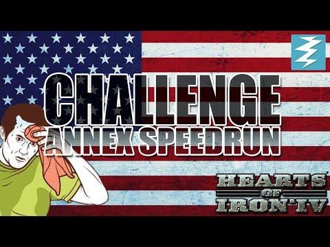 Annex United States SPEEDRUN - Day #2 - Hearts of Iron 4 (HOI4)