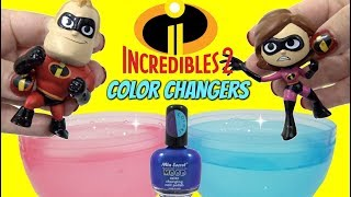Video DIY THE INCREDIBLES 2 Toys Color Change Nail Polish with Mr. Incredible VS Baby Jack Jack MP3, 3GP, MP4, WEBM, AVI, FLV Juli 2018