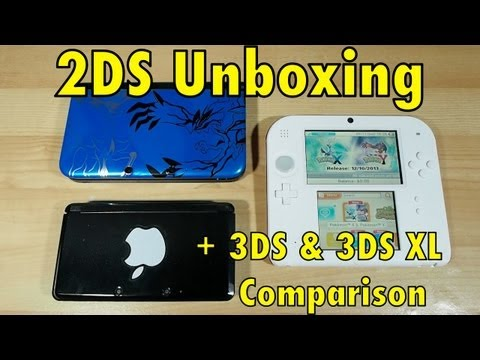 3ds - Thanks to the kind folks at Nintendo Australia, Blunty has a Nintendo 2DS in hand just ahead of it's release, so here's an unboxing & and comparison to the t...