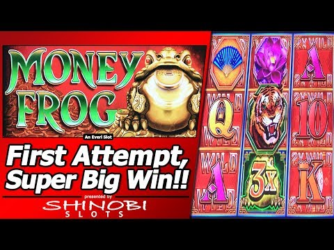 Money Frog Slot - First Attempt, Super Big Win in New Everi title