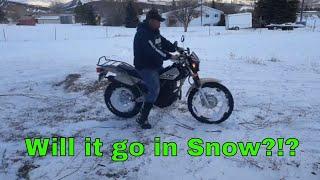 6. Is the Yamaha TW200 Snow Worthy??