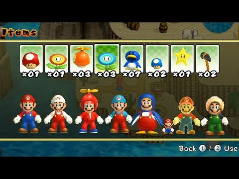 Newer Super Mario Bros Wii - All Power-Ups (видео)