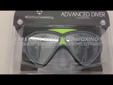 "►  Unboxing-Video der Zwei-Glas-Tauchermaske ""AdvancedDiver"" von #DoYourSwimming auf Deutsch ☑"