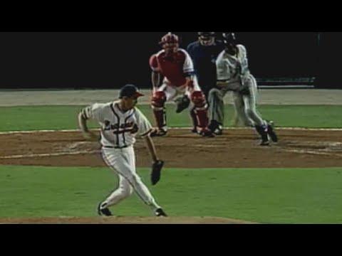 Video: 1997 NLCS Gm1: Maddux snags Renteria's hot comebacker