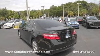 Autoline Preowned 2009 Toyota Camry SE For Sale Used Walk Around Review Test Drive Jacksonville