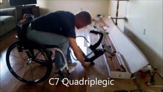 Quadriplegic Laying Hardwood Floor