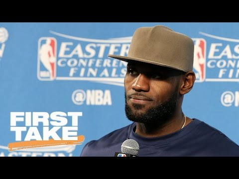LeBron James Gets Testy With Reporter | First Take | May 22, 2017