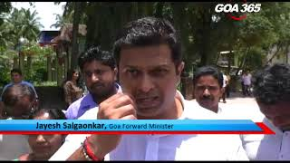 There was a blatant violation of Code of Conduct. Goa Forward Minister Jayesh Salgaonkar personally went to the site of ongoing road repairs in Guirim on Tuesday when Code of Conduct is imposed in the whole of North Goa.