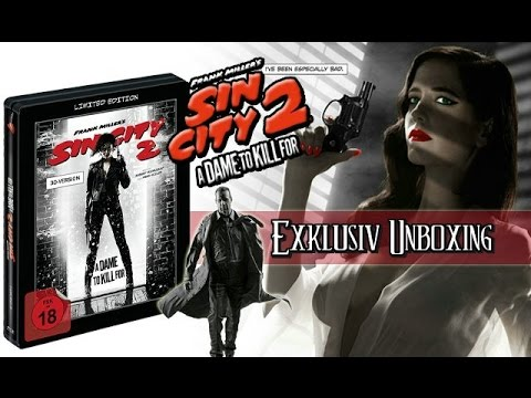 Sin City 2 - A Dame To Kill For 3D Limited Edition Steelbook Blu-ray Unboxing