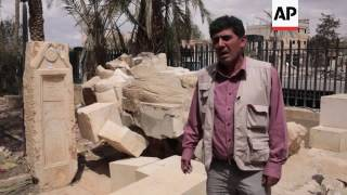 (14 Apr 2016) Experts were on Thursday documenting the damage to artefacts at the Palmyra museum inflicted by the Islamic State group (IS), taking some of ...
