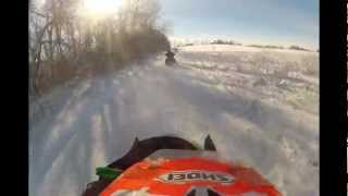 9. 12-22-12 Snowmobiling with 06 Arctic Cat F6