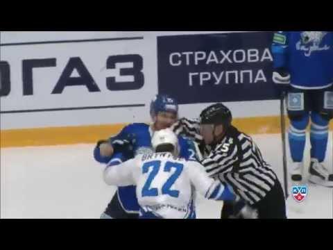 Бой КХЛ: Рыспаев против Белова и Брынцева / KHL Fight: Ryspayev fights Nick Belov, then Bryntsev (видео)