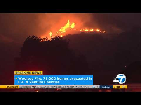 Woolsey Fire chars 8,000 acres, 75K homes under evacuation | ABC7