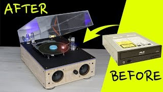 Video How to turn PC CDROM into Vintage Record Player Style MP3, 3GP, MP4, WEBM, AVI, FLV September 2019